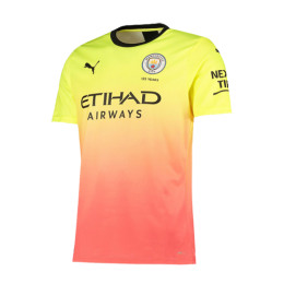 19/20 Manchester City Third Away Yellow&Orange Jerseys Shirt