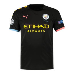19-20 UCL Manchester City Away Black Jerseys Shirt