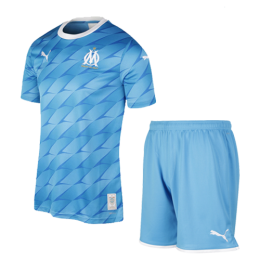 19/20 Marseille Away Blue Jerseys Kit(Shirt+Short)