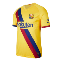 19/20 Barcelona Away Yellow Soccer Jerseys Shirt