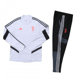 Kids 19-20 Juventus White Sweat Shirt Kit(Top+Trouser)