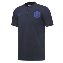 19/20 Chelsea Grand Slam Polo Shirt-Gray