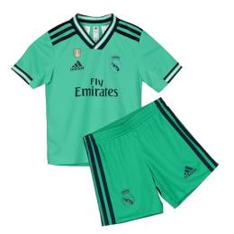 19/20 Real Madrid Third Away Green Children's Jerseys Kit(Shirt+Short)