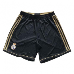 11-12 Real Madrid Away Black Retro Soccer Jerseys Short