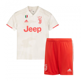 19-20 Juventus Away White Children's Jerseys Kit(Shirt+Short)