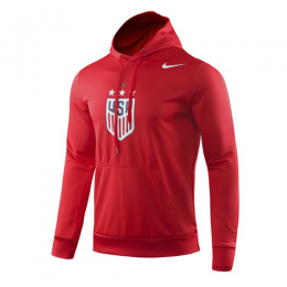 2019 USA NK 4-Star Crest Red Hoody Sweater