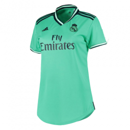 19/20 Real Madrid Third Away Green Women's Jerseys Shirt