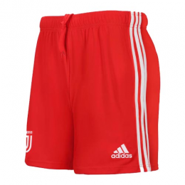 19/20 Juventus Away Red Soccer Jerseys Short