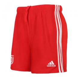 19/20 Juventus Away Red Soccer Jerseys Short