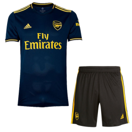 19-20 Arsenal Third Away Navy Soccer Jerseys Kit(Shirt+Short)