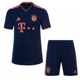 19/20 Bayern Munich Third Away Navy Jerseys Kit(Shirt+Short)