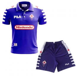 98/99 Fiorentina Home Purple Retro Soccer Jerseys Kit(Shirt+Short)
