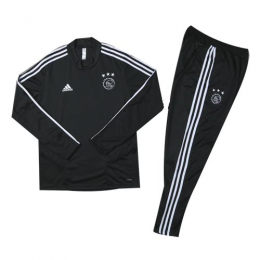 Kids 19/20 Ajax Black Sweat Shirt Kit(Top+Trouser)