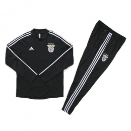 Kids 19/20 Benfica Black Sweat Shirt Kit(Top+Trouser)