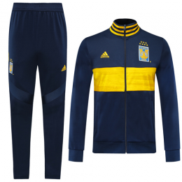 19/20 Tigres UANL Navy&Yellow High Neck Collar Training Kit(Jacket+Trouser)