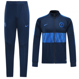 19/20 Chelsea Navy&Blue High Neck Collar Training Kit(Jacket+Trouser)