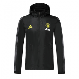 19/20 Manchester United Black Woven Windrunner