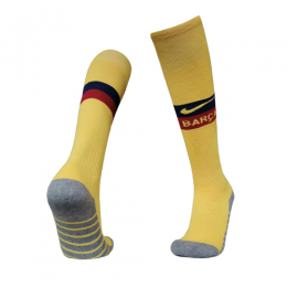 19/20 Barcelona Away Yellow Soccer Jerseys Socks