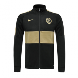 19/20 Inter Milan Black&Golden High Neck Collar Training Jacket