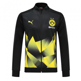 19/20 Borussia Dortmund Black High Neck Collar Training Jacket