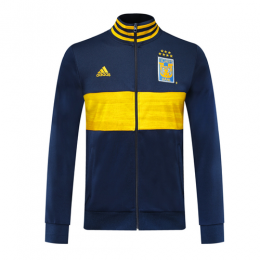 19/20 Tigres UANL Navy&Yellow High Neck Collar Training Jacket