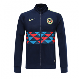 19/20 Club America Navy High Neck Collar Training Jacket
