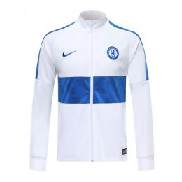 19/20 Chelsea White High Neck Collar Training Jacket