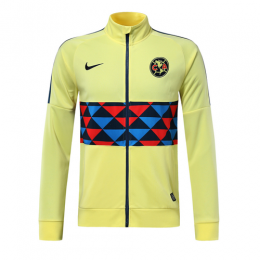 19/20 Club America Yellow High Neck Collar Training Jacket