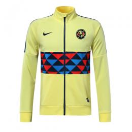 19/20 Club America Yellow High Neck Collar Training Jacket
