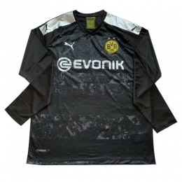 19/20 Borussia Dortmund Away Black Long Sleeve Jerseys Shirt