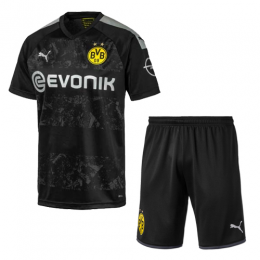 19/20 Borussia Dortmund Away Black Soccer Jerseys Kit(Shirt+Short)