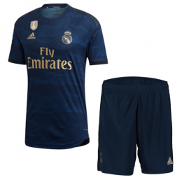 19-20 Real Madrid Away Navy Soccer Jerseys Kit(Shirt+Short)