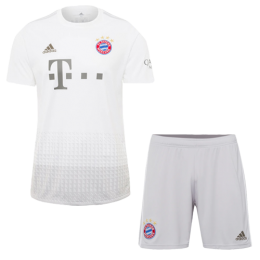 19/20 Bayern Munich Away White Jerseys Kit(Shirt+Short)