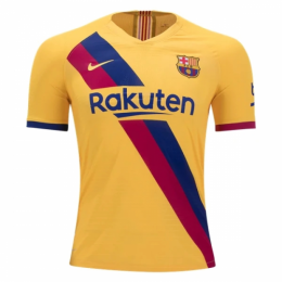 19-20 Barcelona Away Yellow Soccer Jerseys Shirt(Player Version)