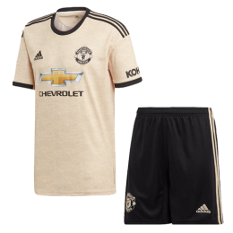 19/20 Manchester United Away Khaki Jerseys Kit(Shirt+Short)