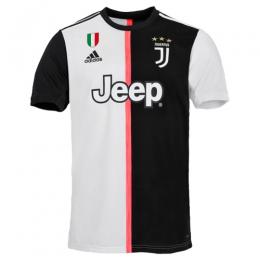 19-20 Juventus Home Black&White Soccer Jerseys Shirt(Player Version)
