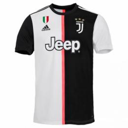 19-20 Juventus Home Black&White Soccer Jerseys Shirt