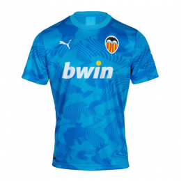 19/20 Valencia Third Away Blue Soccer Jerseys Shirt