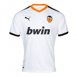 19-20 Valencia Home White Soccer Jerseys Shirt