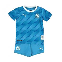 19/20 Marseilles Away Blue Children's Jerseys Kit(Shirt+Short)