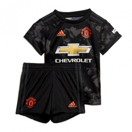 19/20 Manchester United Third Away Black Children's Jerseys Kit(Shirt+Short)