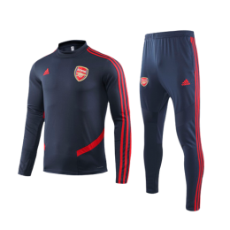 19/20 Arsenal Navy O-Neck Sweat Shirt Kit(Top+Trouser)