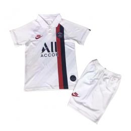 19/20 PSG Third Away White Children's Jerseys Kit(Shirt+Short)