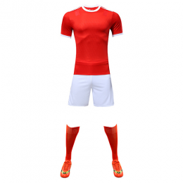 Customize Team Red&White Player Version Soccer Jerseys Whole Kit(Shirt+Short+Socks)