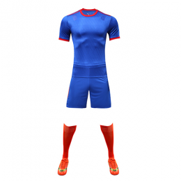 Customize Team Blue&Red Player Version Soccer Jerseys Whole Kit(Shirt+Short+Socks)