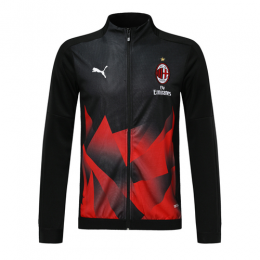 19/20 AC Milan Black&Red High Neck Collar Training Jacket
