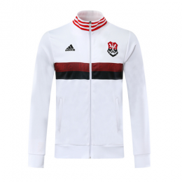 19/20 CR Flamengo White High Neck Collar Training Jacket