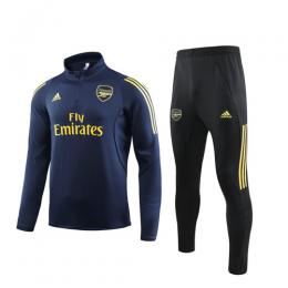 19/20 Arsenal Navy Zipper Sweat Shirt Kit(Top+Trouser)