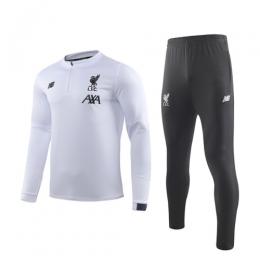 19/20 Liverpool White Zipper Sweat Shirt Kit(Top+Trouser)