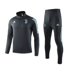 19/20 Juventus Navy Zipper Sweat Shirt Kit(Top+Trouser)